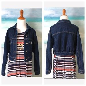 0016298ef61 Anthropologie Jackets   Coats - Anthropologie Pilcro Denim Trucker Jacket  Crop